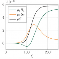 Entropy density profiles in binary mixture shock  wave